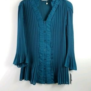Signature by Larry Levine Tops - Signature by Larry Levine Womens 1X Teal Top NWT